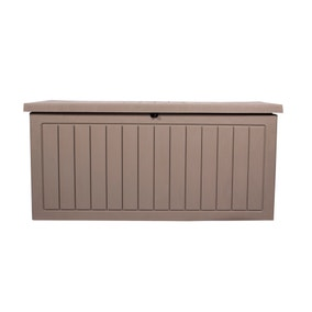 Grey Deluxe Waterproof Outdoor Storage Box with Double Gas Lift