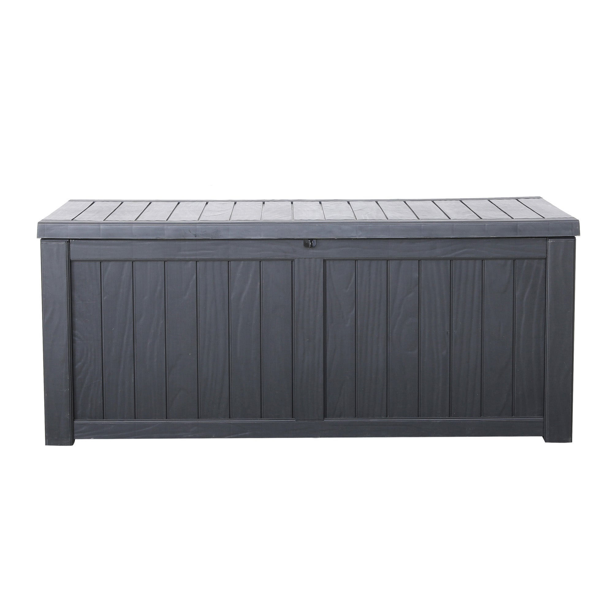 Black Deluxe Waterproof Outdoor Storage Box with Double Gas Lift Black