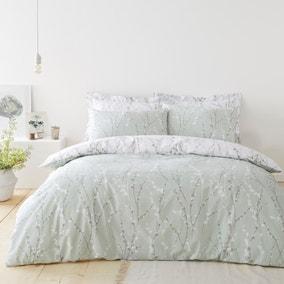 Belle Sage Duvet Cover and Pillowcase Set
