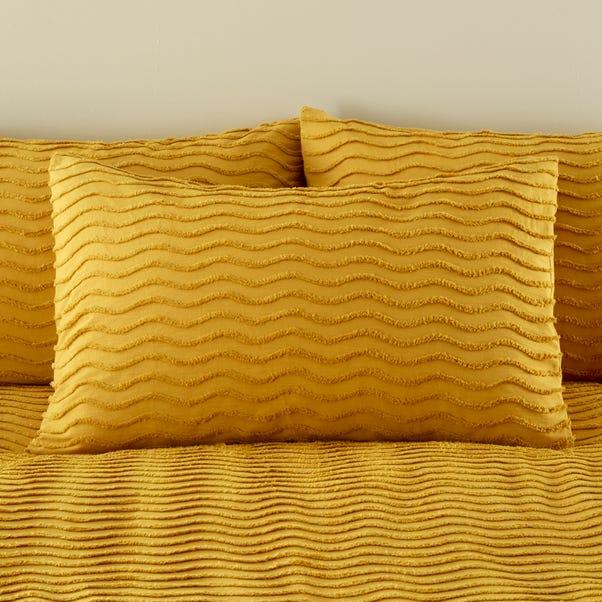 Arlo Tufted Ochre 100% Cotton Housewife Pillowcase