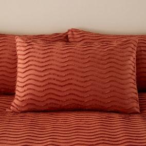 Arlo Tufted Terracotta 100% Cotton Housewife Pillowcase