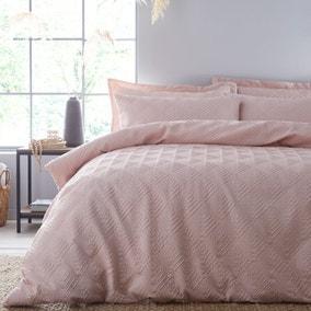 Parisa Geometric Blush Duvet Cover and Pillowcase Set