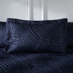 Romilly Pinsonic Navy Oxford Pillowcase
