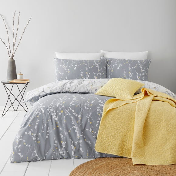 Belle Charcoal Duvet Cover and Pillowcase Set  undefined