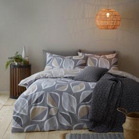 Juno Natural 100% Cotton Reversible Duvet Cover and Pillowcase Set
