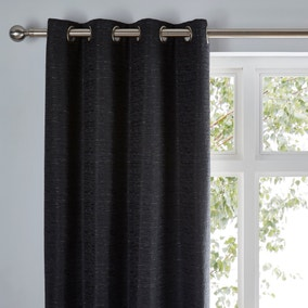 Molly Black Eyelet Curtains