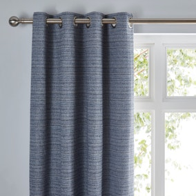 Retreat Blue Eyelet Curtains