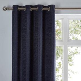 Molly Navy Eyelet Curtains