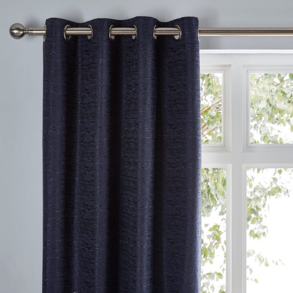 Molly Navy Eyelet Curtains  undefined
