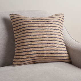 Jute Navy Stripe Cushion