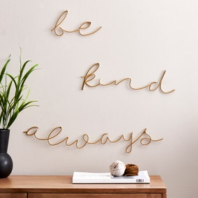 Be Kind Always Wire Wall Art