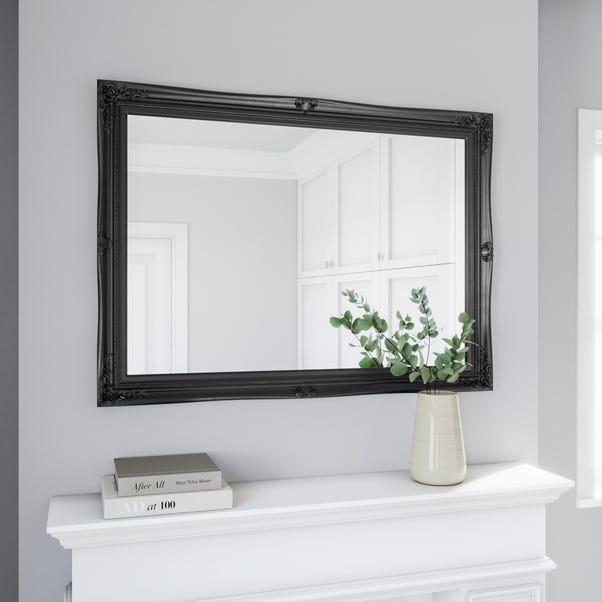 Swept Mirror 104x74cm Black Black undefined