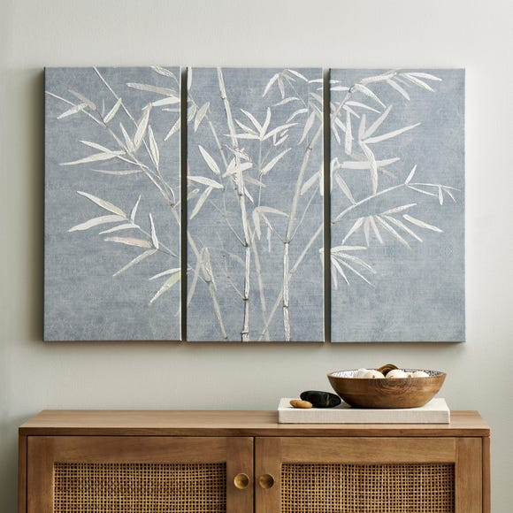 Global Set of 3 Bamboo Canvas' Grey