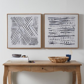 Faux Linen Tribal Print Set