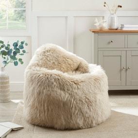 Dorma Genuine Sheepskin Bean Chair