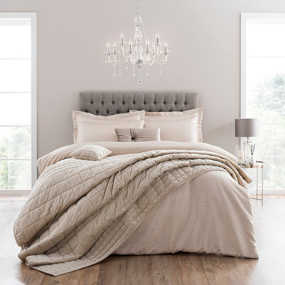 Tegan Champagne Textured Duvet Cover and Pillowcase Set  undefined