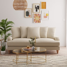 Beatrice Scatter Back Fabric 3 Seater Sofa