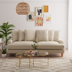 Beatrice Scatter Back Fabric 4 Seater Sofa