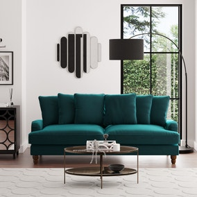 Beatrice Scatter Back Velvet 4 Seater Sofa