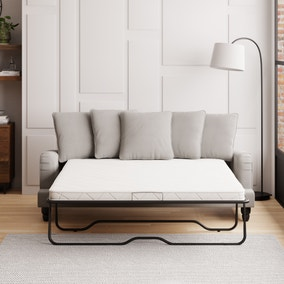 Beatrice Scatter Back Boucle 3 Seater Sofa Bed