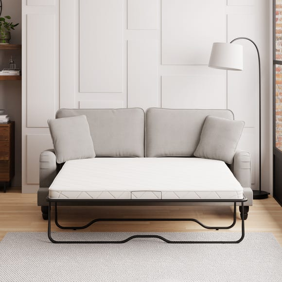 Beatrice Boucle 3 Seater Sofa Bed Light Grey