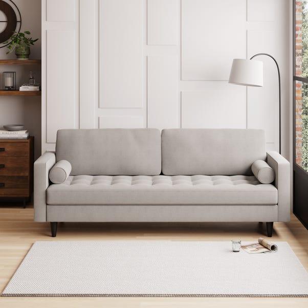 Zoe Boucle 4 Seater Sofa Light Grey