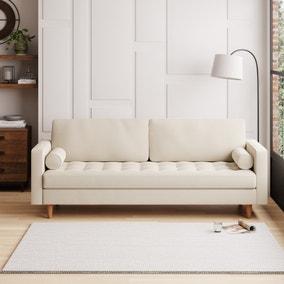 Zoe Flat Weave 4 Seater Sofa