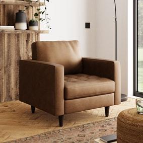 Zoe Faux Leather Armchair