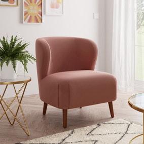 Ava Blush Velvet Chair