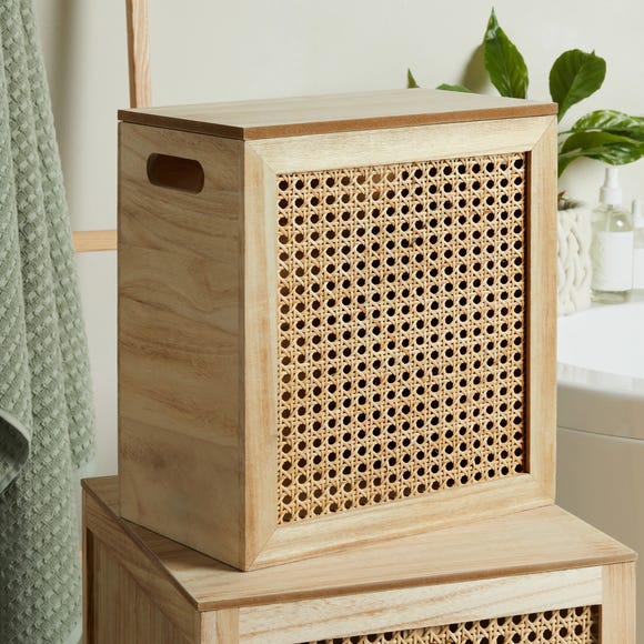 French Cane Small Storage Box Natural