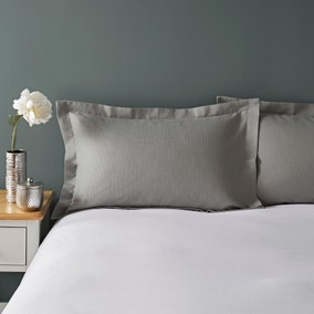 Waffle Grey Oxford Pillowcase