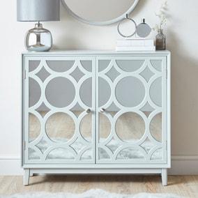 Delphi Grey Small Slim Cabinet