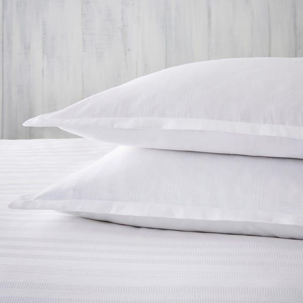 Dorma Purity Staunton White Oxford Pillowcase Pair White