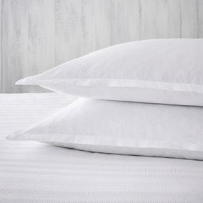 Dorma Purity Staunton White Oxford Pillowcase Pair