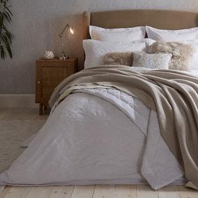 Dorma Purity Kempley Jacquard White Duvet Cover and Pillowcase Set