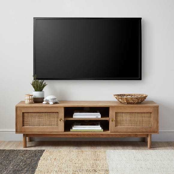 Indi Wide TV Stand Wood (Brown)