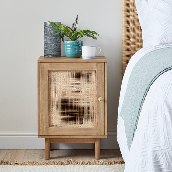 Indi Bedside Table Wood (Brown)