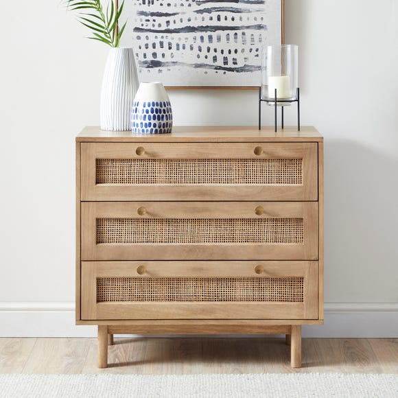 Indi 3 Drawer Chest Wood (Brown)