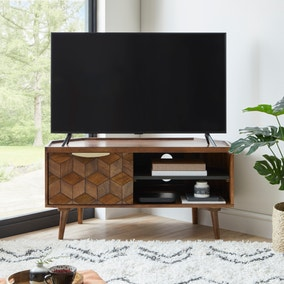 Hex Corner TV Stand