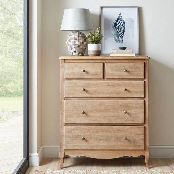 Giselle 5 Drawer Chest Wood (Brown)