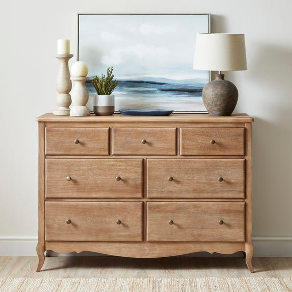 Giselle 7 Drawer Chest Wood (Brown)