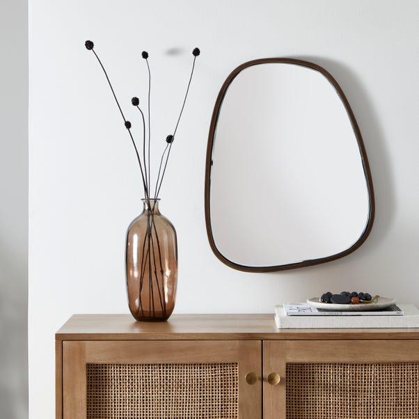 Pebble Mirror 55cm x 44cm Walnut (Brown)