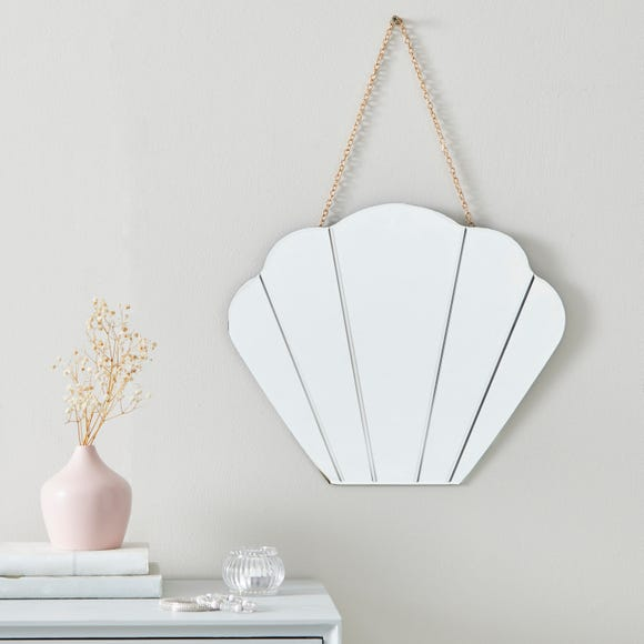 Vivian Shell Wall Mirror Gold Gold undefined