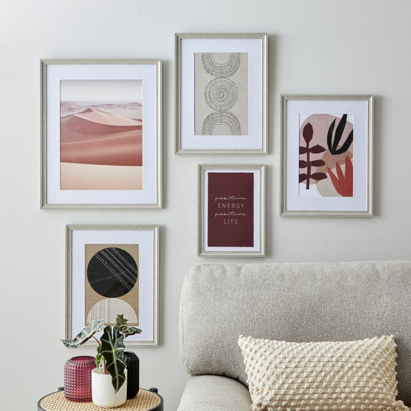 Pack of 5 Curby Gallery Wall Frames Grey