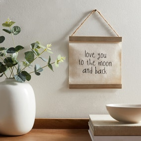 Moon and Back Hanging Plaque