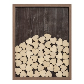 Wood Effect Guest Book Frame