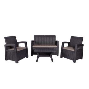 Faro 4 Seater Black Conversation Set