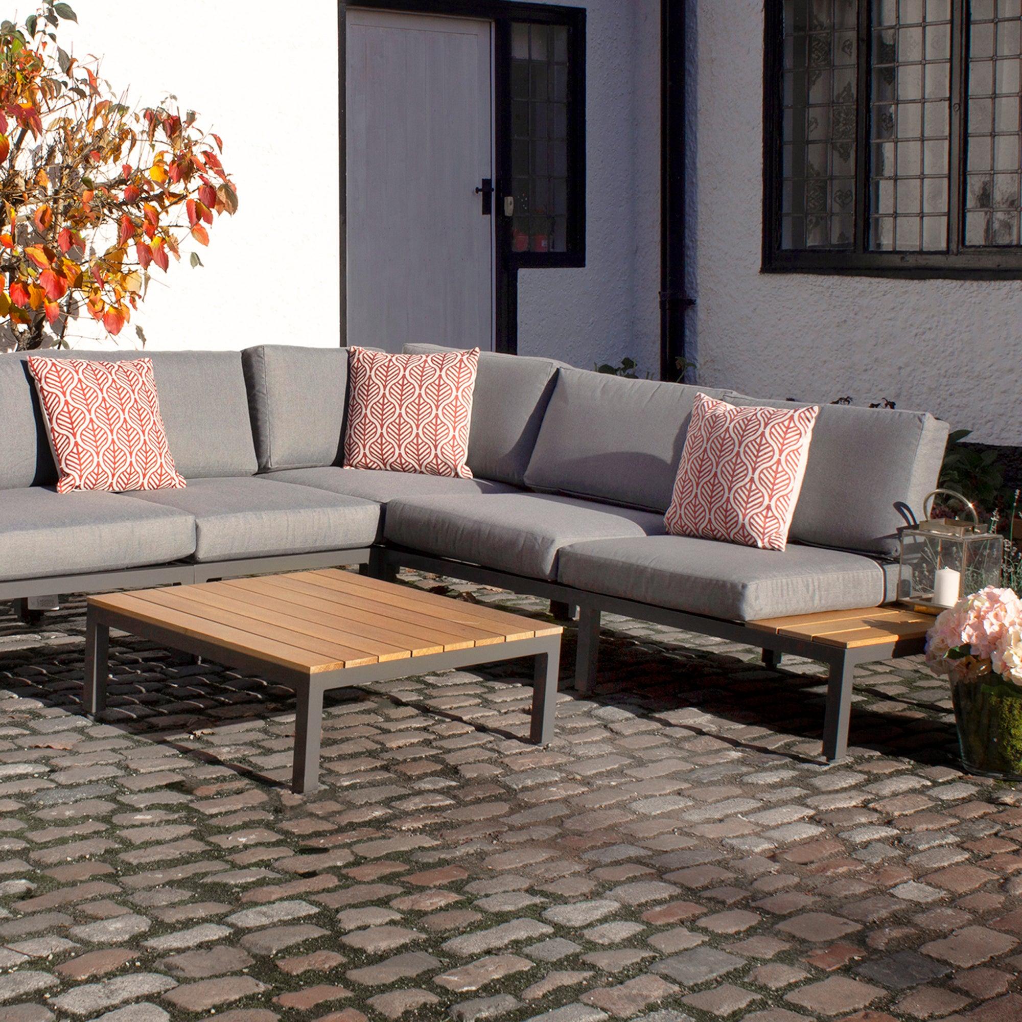 Aspen 6 Seater Modular Corner Sofa Set Grey