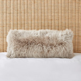 Dorma Natural Sheepskin Boudoir Cushion