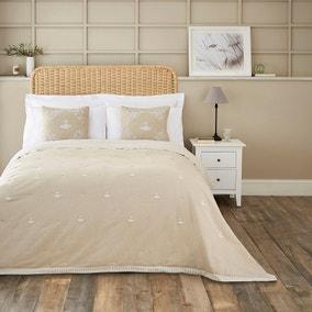 Dorma Embroidered Bee Bedspread